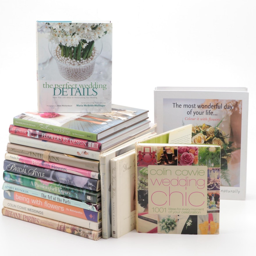 """Wedding Planning Books Including Signed """"The Perfect Wedding Details"""""""