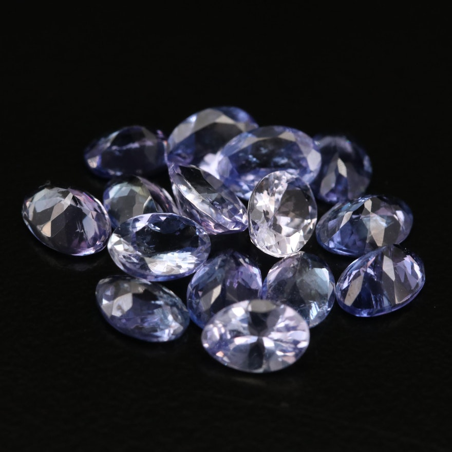 Loose 10.89 CT Oval Faceted Tanzanites