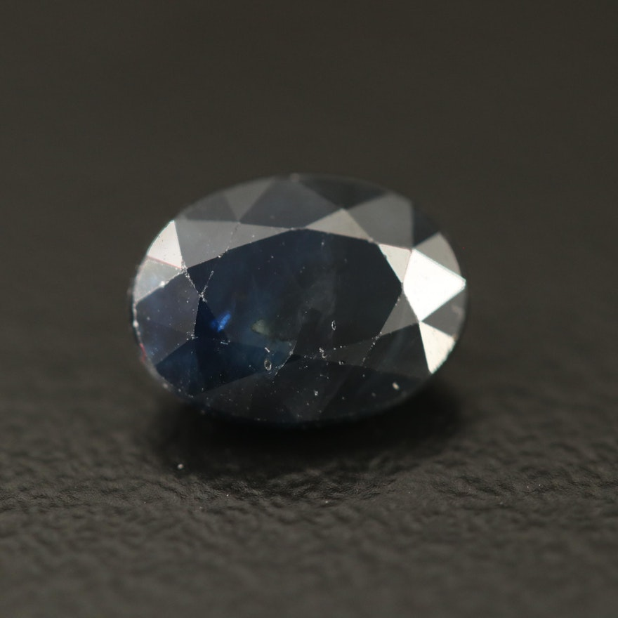 Loose 1.78 CT Oval Faceted Sapphire