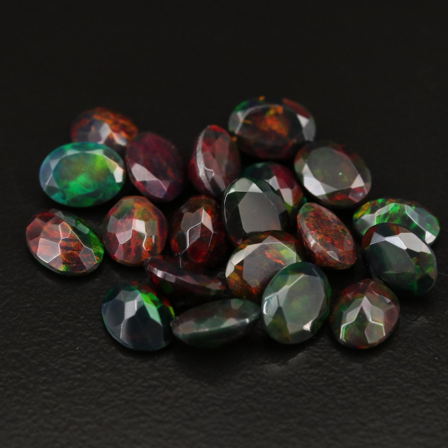 Loose 16.34 CTW Oval Faceted Opals