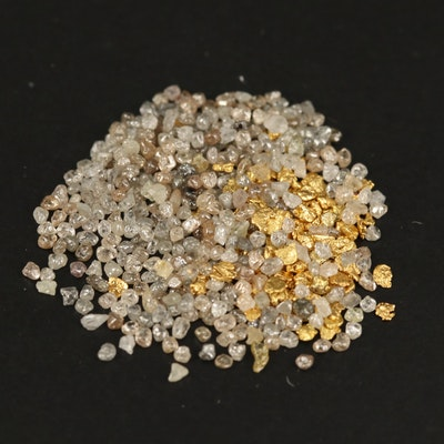 Loose Native Gold Nuggets and Rough Diamonds