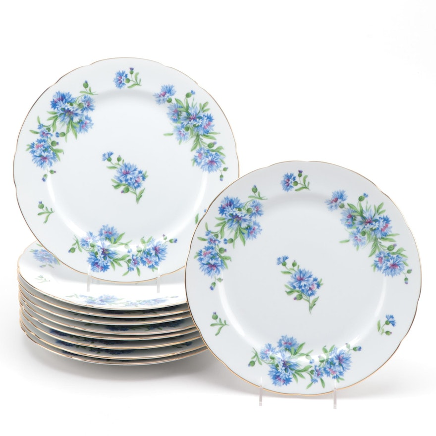"""Rosetti """"Meadow Belle"""" Hand-Painted Porcelain Round Chop Plates"""