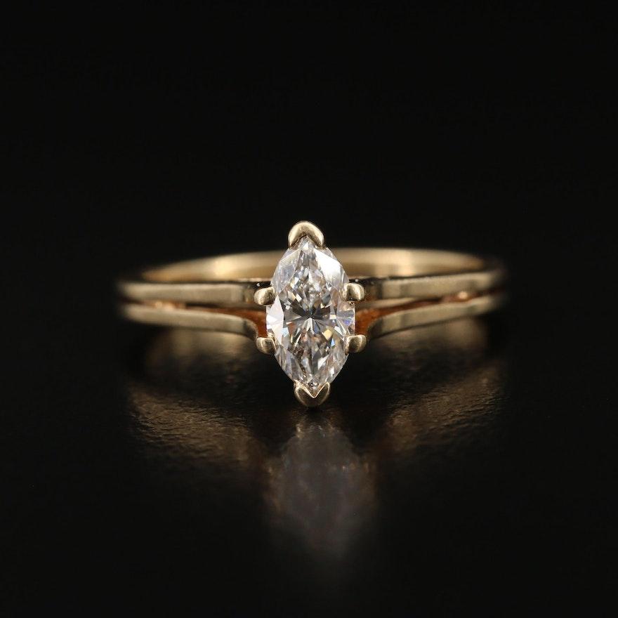 14K 0.50 Diamond Solitaire Ring