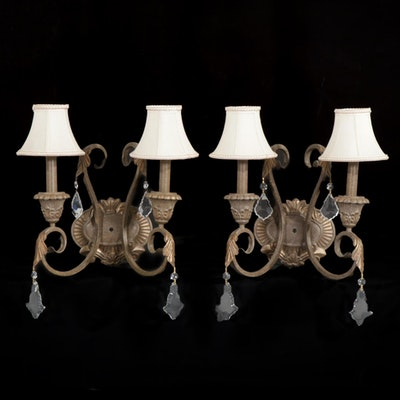 "Pair of Kichler ""Ravenna"" Two Light Wall Sconces, 21st Century"