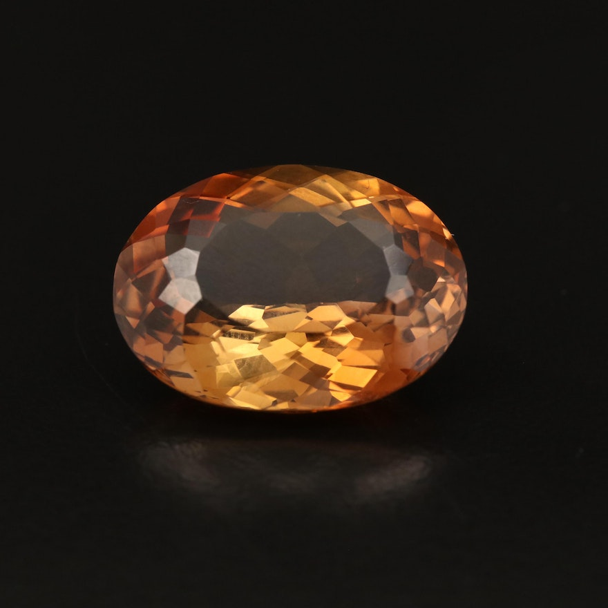 Loose 21.48 CT Oval Faceted Topaz