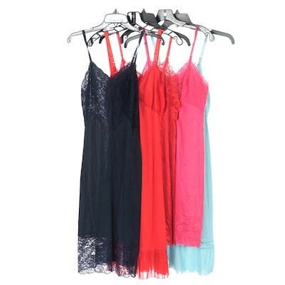 Vanity Fair, Rogers and Body Lites Lace Slip Dresses