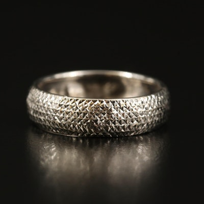 14K Textured Pattern Band