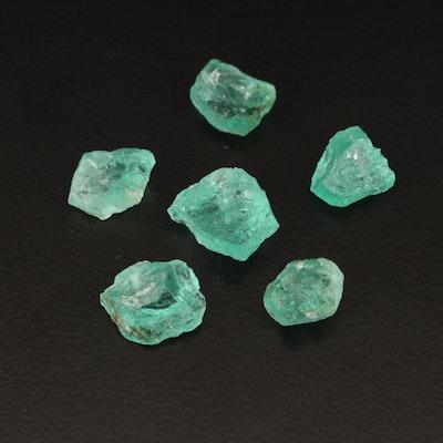 Loose 14.06 CTW Rough Cut Emerald