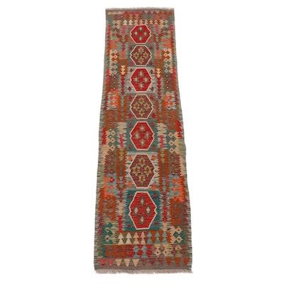 2'7 x 9'10 Handwoven Caucasian Turkish Kazak Carpet Runner, circa 2010s