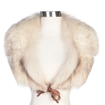 Crystal Fox Fur Collar