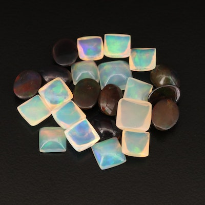 Loose 17.37 CTW Mixed Cut Opal