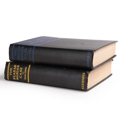 """First Edition """"Bishop Murder Case"""" and """"Scarab Murder Case"""" by S. S. Van Dine"""