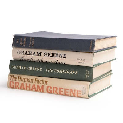 "First Edition and Early Printing Graham Greene Novels Including ""Quiet American"""