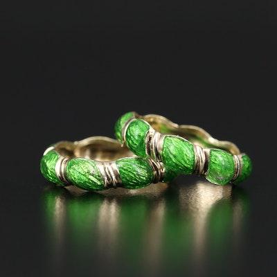 14K Green Enamel Rings