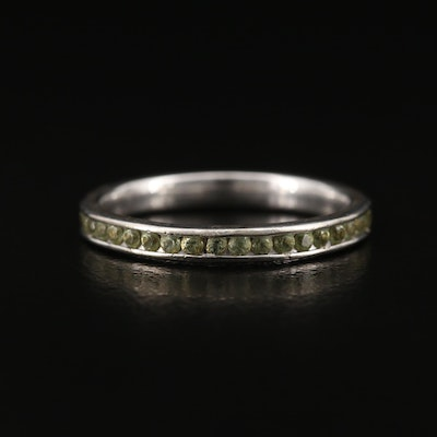 14K Citrine Eternity Band