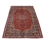 10'1 x 14'2 Hand-Knotted Persian Isfahan Room Size Rug, circa 1970s