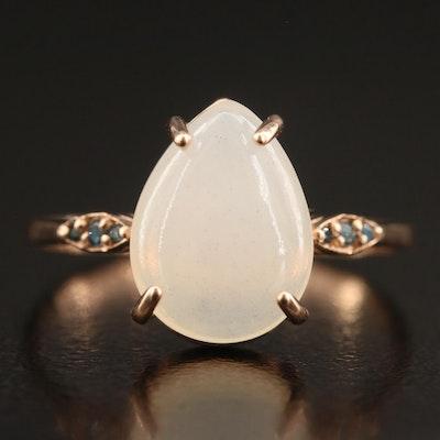 14K Opal and Diamond Ring