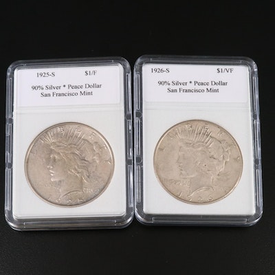 1925-S and 1926-S Peace Silver Dollars