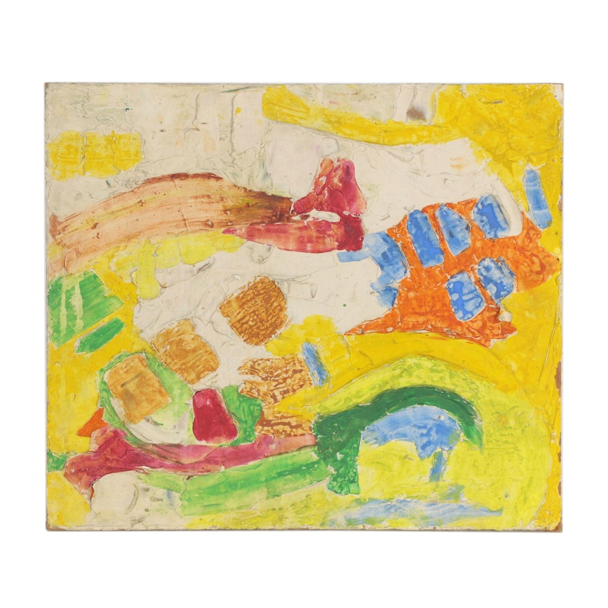 Abstract Oil Painting, Mid-20th Century
