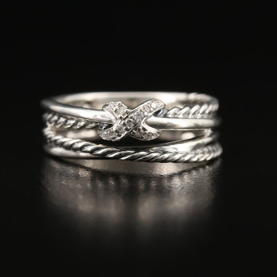 David Yurman Sterling Silver Diamond Ring