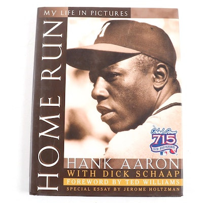 "Signed First Printing ""Home Run: My Life in Pictures"" by Hank Aaron with COA"