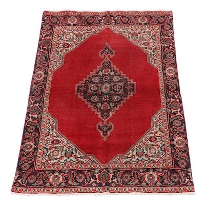 4'1 x 6'2 Hand-Knotted Persian Bijar Wool Rug