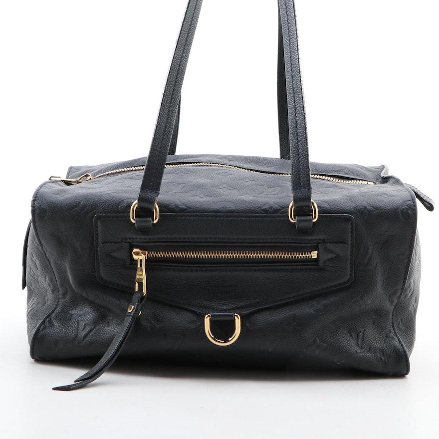 Louis Vuitton Inspiree Bag in Bleu Infini Monogram Empreinte Leather