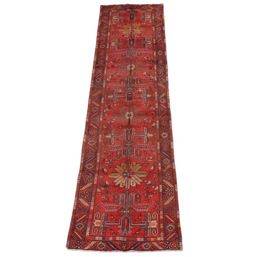 3'6 x 13'11 Hand-Knotted Persian Qashqai Wool Long Rug