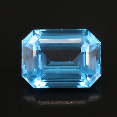Loose 22.24 CT Cut Corner Rectangular Faceted Topaz