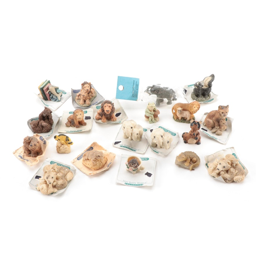 United Design Itty Bitty World Miniature Animals, Including Hedgehog and Wolves