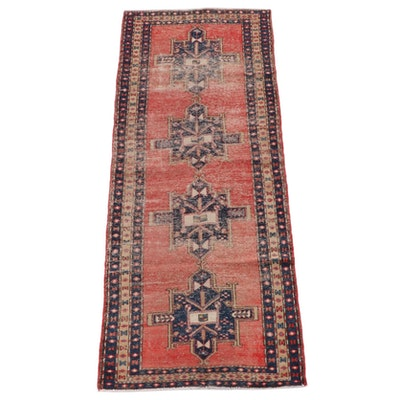 3'6 x 10'2 Hand-Knotted Persian Meshkin Long Rug