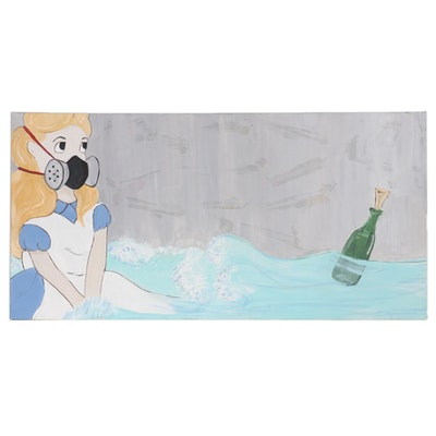 Pop Art Style Acrylic Painting, 21st Century