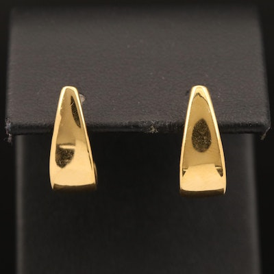 14K J Hoop Earrings