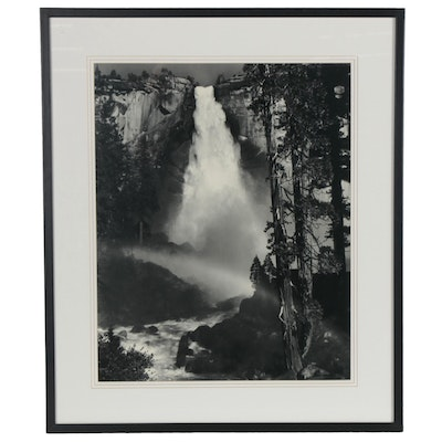 "Offset Lithograph after Ansel Adams ""Nevada Falls, Rainbow,"" Late 20th Century"