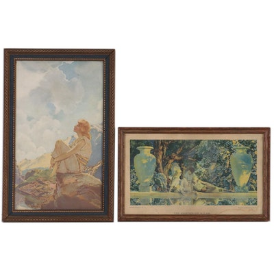 "Maxfield Parrish Offset Lithographs ""Morning"" and ""The Garden of Allah"""