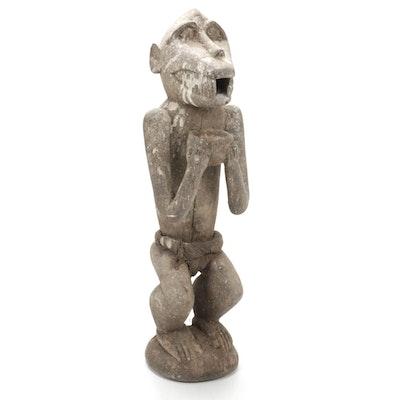 """Baule """"Gbekre"""" Style Wooden Monkey Figure, Côte d'Ivoire"""