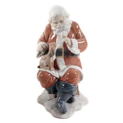 """Lladró """"Santa's Little Secret"""" Porcelain Figurine Designed by Virginia González"""