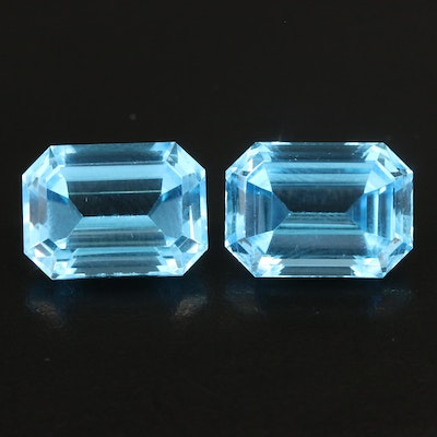 Loose Matched Pair of 30.54 CTW Topaz