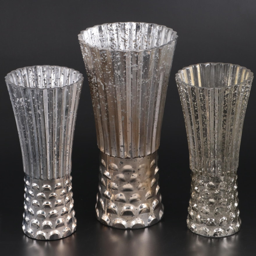 Mercury Style Glass Vases, Late 20th to 21st Century