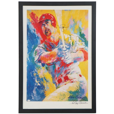 LeRoy Neiman and Mark McGwire Signed Neiman Print, Framed COA