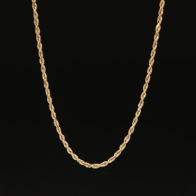 14K Rope Chain Necklace