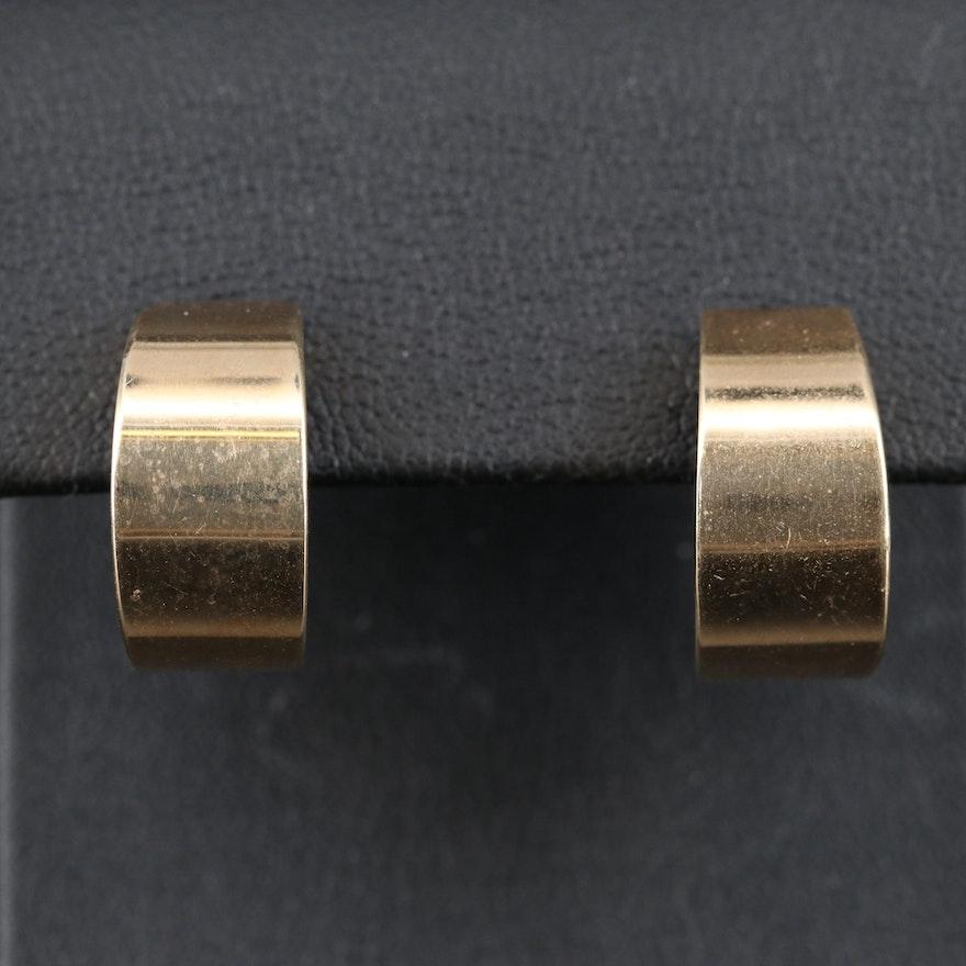 14K Half Hoop Earrings