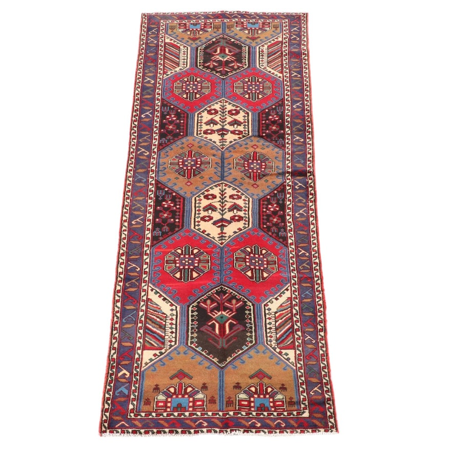 3'5 x 9'8 Hand-Knotted Southern Caucasian Carpet Runner