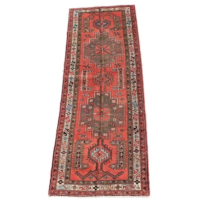 3'4 x 10'2 Hand-Knotted Caucasian Shirvan Wool Carpet Runner