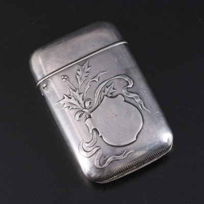 Howard Sterling Co. Sterling Silver Match Case, Early 20th Century