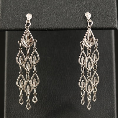 14K Teardrop Dangle Earrings