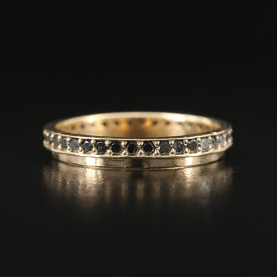 14K Black Diamond Eternity Band