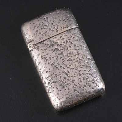 William Wilson & Son Sterling Silver Match Case, Late 19th/Early 20th Century