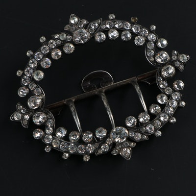 Victorian Sterling Silver Glass Paste Buckle