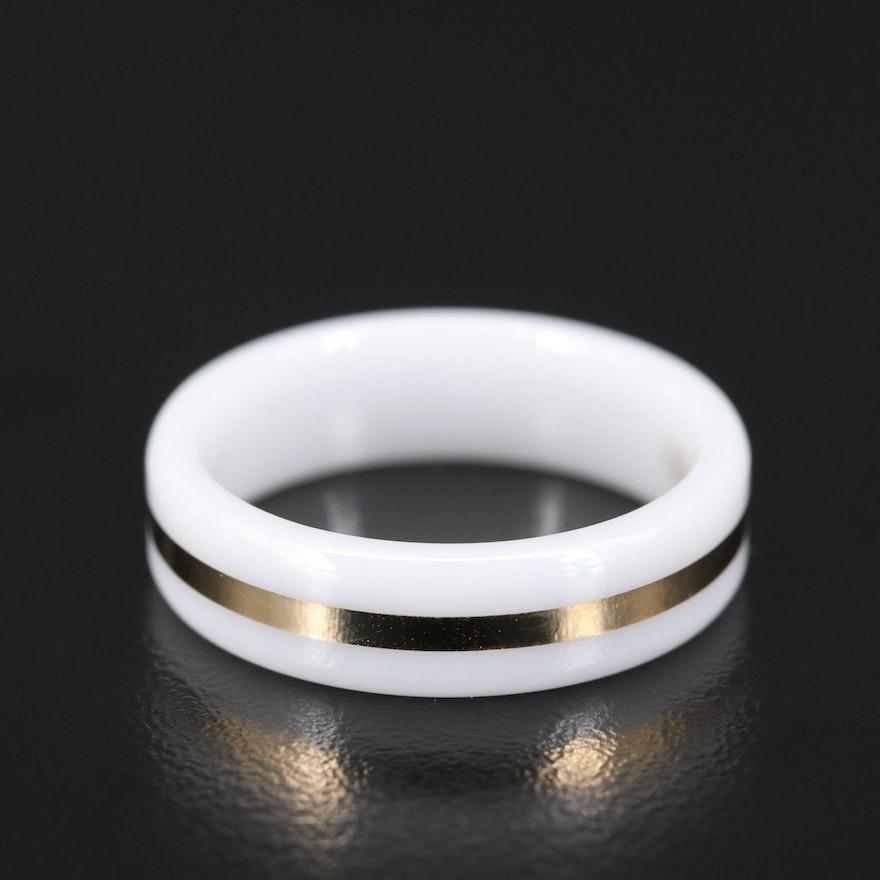 14K Ceramic Ring